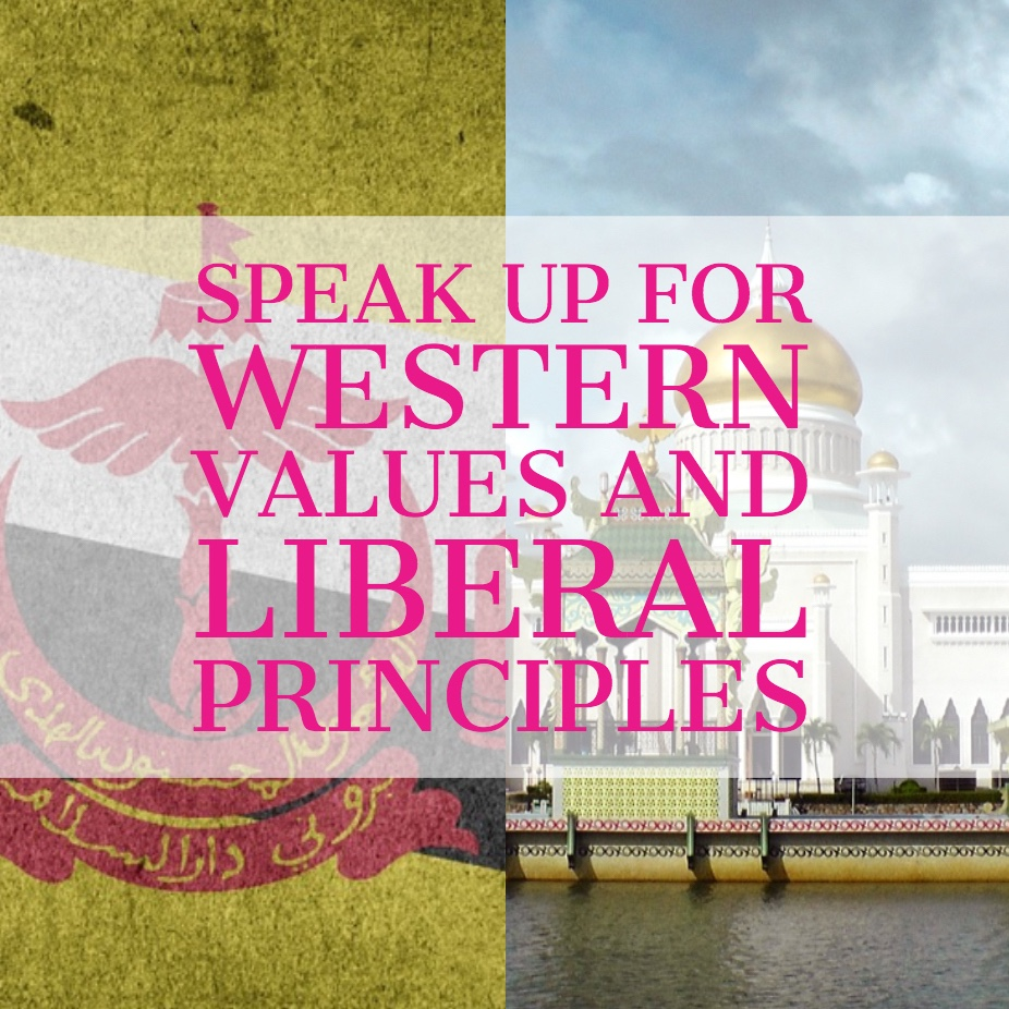 Speak up for western values and liberal principles